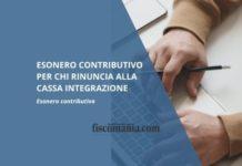 Esonero contributivo