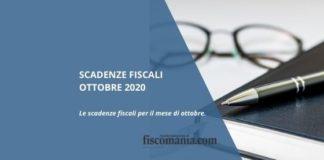 Scadenze fiscali ottobre 2020