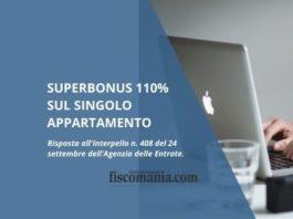 Superbonus 110% sul singolo appartamento