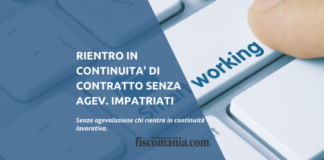 Rientro in continuità lavorativa senza impatriati