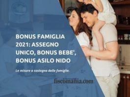 Bonus famiglia 2021