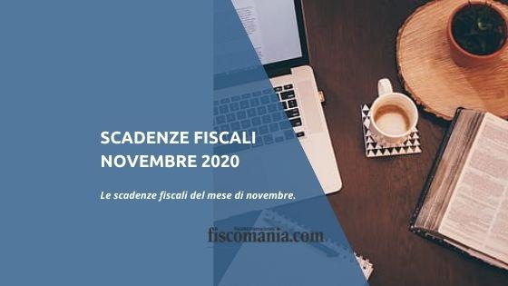 Scadenze fiscali novembre