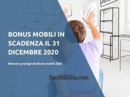 Bonus mobili in scadenza