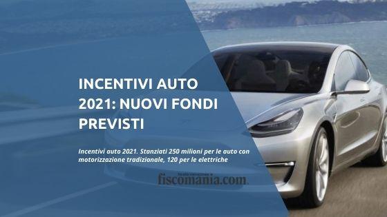 Incentivi auto 2021