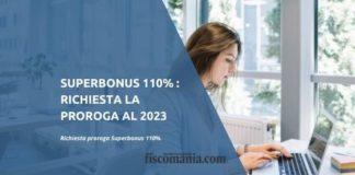 Superbonus 110% proroga