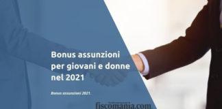 Bonus assunzioni 2021
