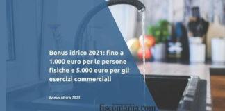 Bonus idrico 2021