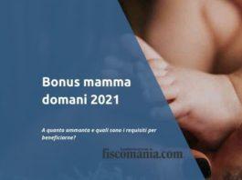 Bonus mamma domani 2021
