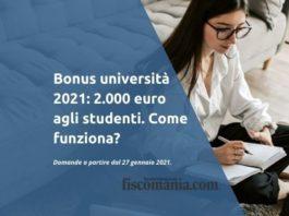 Bonus università