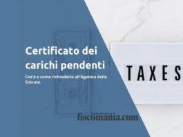 Certificato dei carichi pendenti - unico debiti tributari