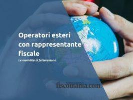 Operatori esteri con rappresentante fiscale UE