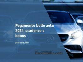 Pagamento bollo auto 2021