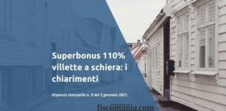 Superbonus 110% villette a schiera
