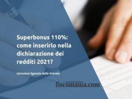 Superbonus dichiarazione dei redditi