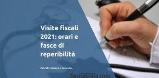Visita fiscale 2021