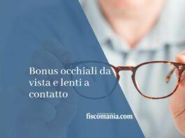 bonus occhiali da vista