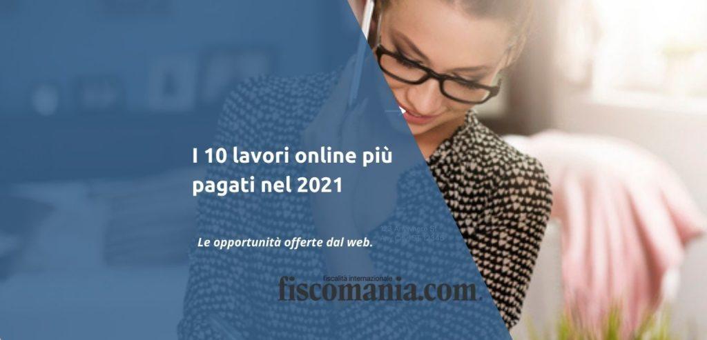10 lavori online più pagati
