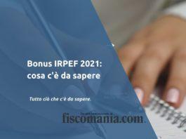 Bonus IRPEF 2021