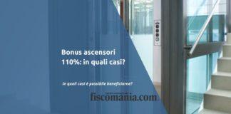 Bonus ascensori 110