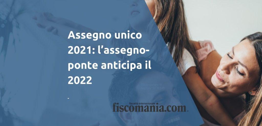 Assegno unico 2021