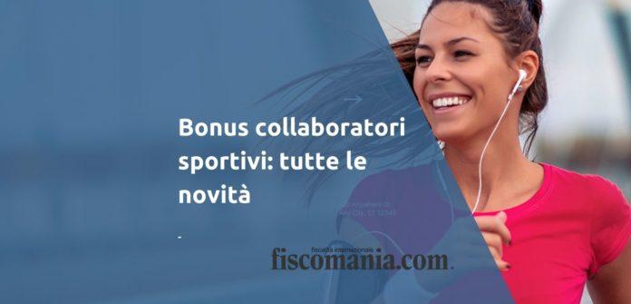 Bonus collaboratori sportivi
