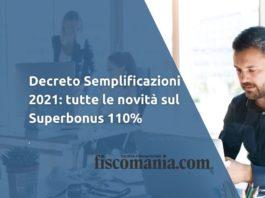Decreto semplificazioni 2021