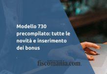 Modello 730 precompilato novità