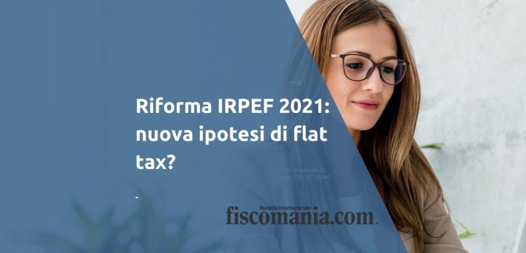 Riforma IRPEF 2021