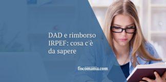 DAD e rimborso IRPEF