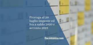 Proroga versamenti 2021