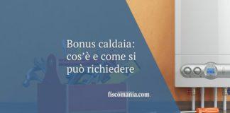 bonus caldaia