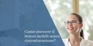 bonus mobili senza ristrutturazione