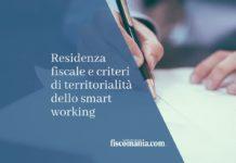 residenza fiscale e territorialità
