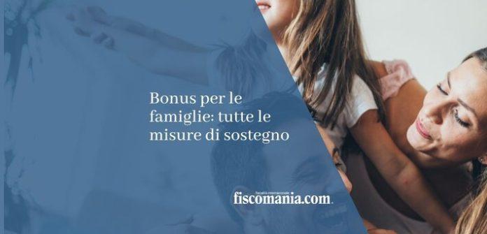 bonus per le famiglie