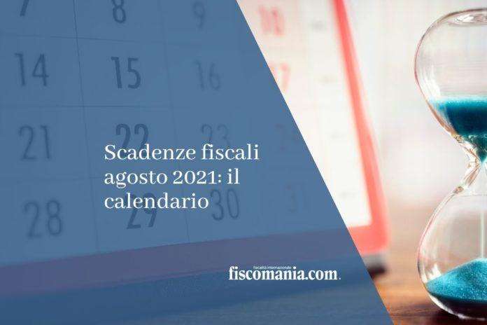 scadenze fiscali agosto