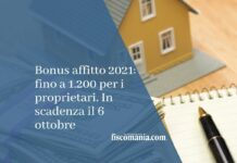 bonus affitti 2021