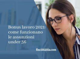 bonus lavoro 2021