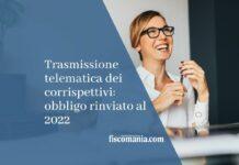 trasmissione telematica corrispettivi