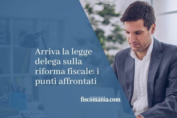 legge delega sulla riforma fiscale