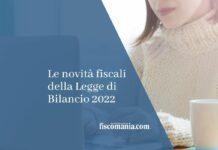 novità fiscali legge di bilancio
