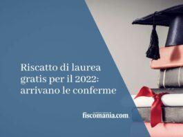 riscatto di laurea gratis